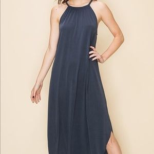 Easy Lifestyle Maxi Dress in Blue Night